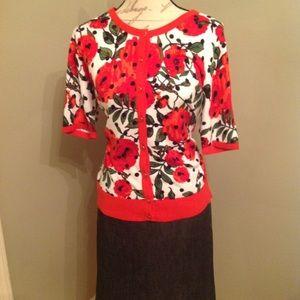 NWOT NYCo short sleeve cardigan Sz Lg $18